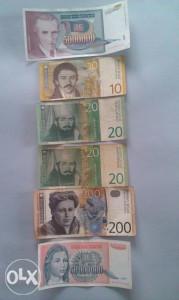 Novčanice Jugoslavije 1993,2000 i 2001