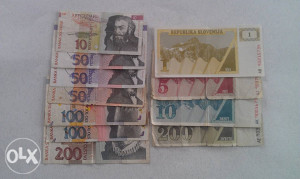 Novčanice Tolar  LOT