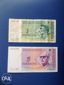 Novčanice BOSNA I HERCEGOVINA--LOT