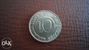 Stara kovanica 10 tolara Slovenija