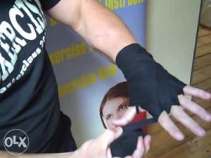 Bandaže za boks 235x5cm crvena bijela crna 062/546-546