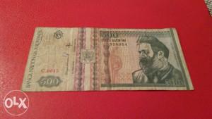Rumunija, 500 leja 1992.