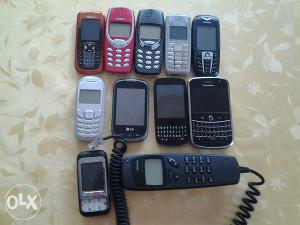 Stari telefoni.