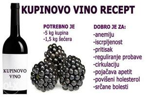 kupinovo vino vino od kupina
