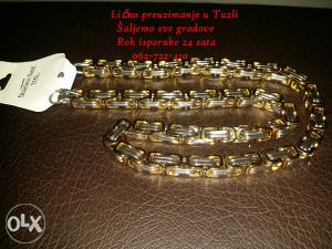 KAJLA-LANAC 2 tona zlatno-srebrena kombinacija