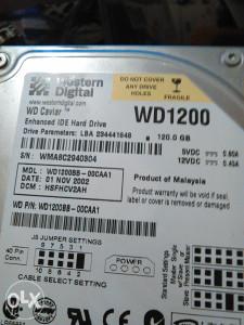 WESTERN DIGITAL  120 GB