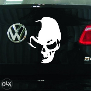 Stiker - Vodootporna auto naljepnica BIJELA