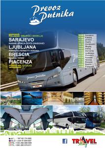 Karta za autobusnu liniju BiH - ITALIJA