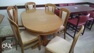 Stol i 6 stolica hrast gru