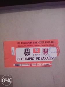 Ulaznica FK OLIMPIC-FK SARAJEVO