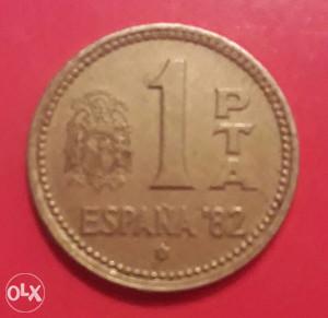 Španija,1 prigodna pezeta 1982.