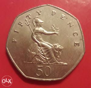 V. Britanija, 50 penija 1983.
