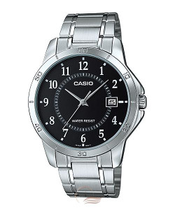 CASIO SAT Steel and leather LTP