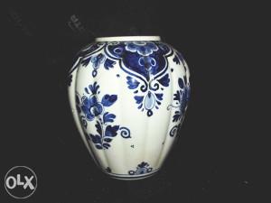 Delft Blau vaza iz 1930'tih , antikvarni porculan