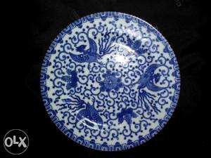 Kineski antikvarni tanjir sa motivom feniksa
