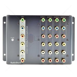 RadioShack 4 Way A/V Stereo Distribution Amplifier