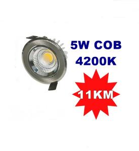 LED COB 5W silver 4200K ugradni (okrugli)