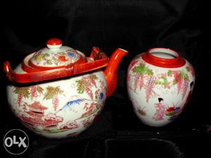 Japanski set za čaj, antikvarni porculan