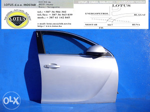 Opel Insignia-prednja desna vrata (ostali dijelovi)