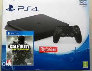 PlayStation 4 500GB SLIM + Cod Infinite Warfare