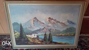 umjetnicka slika ulje na platnu,95X65cm,original,