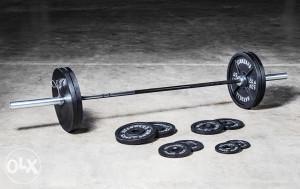 CROSSFIT SET 110kg Olimpijska sipka tegovi utezi
