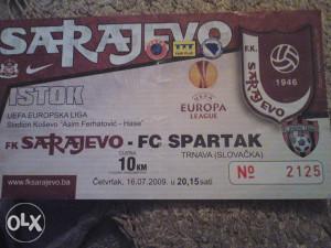 SARAJEVO-SPARTAK 16.7.2009