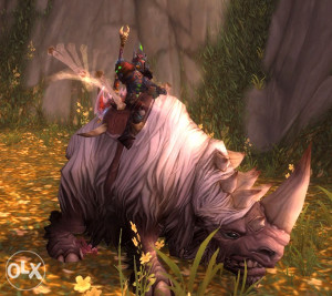 World of Warcraft TCG mount wooly white rhino