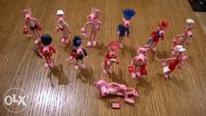 Kinder figurice Pink Panter 1989 - (Set 12 figurica)