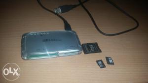 Prodajem citac kartica adapter i kartice 4gb 8gb