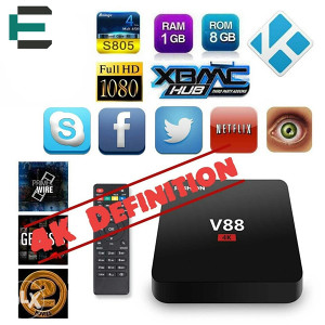 TV BOX ANDROID KODI INSTALIRAN V88