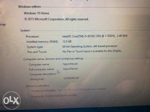 HP laptop, i5 4. Gen