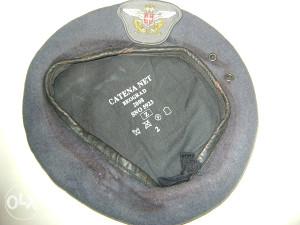 Beretka plava RV i PVO VS sa platnenom oznakom,vel.2