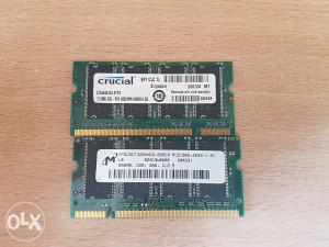 RAM DDR 512 + 256 memorija Crucial za laptop