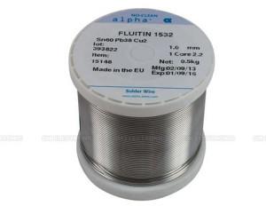 Tinol žica - kalaj - 0,75 mm - Sn60 Pb38 Cu2_1.0 kg