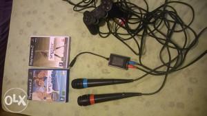 ps 2 sa mikrofonima i opremom