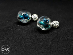 Srebro nakit naušnice Swarovski