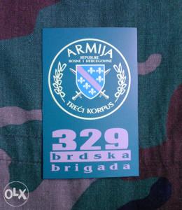 Amblem ARBiH - 329 bbr.