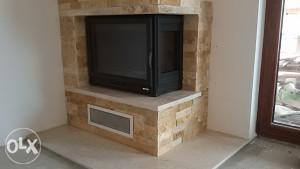 Kamin sa oblogom - dekorativni kamen