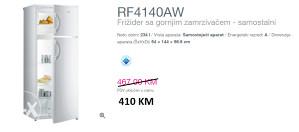 GORENJE frižider sa gornjim zamrzivačem RF4140AW
