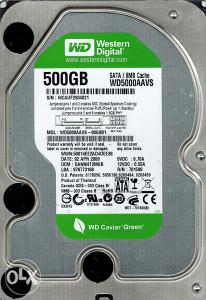 Hard disk / HDD 500 GB, SATA, WD Western Digital