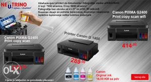 Printer Pixma G1400 G2400 G3400