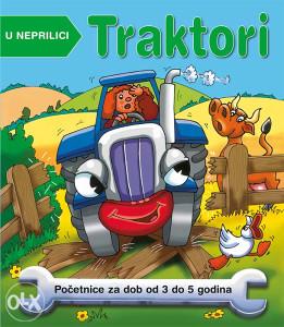 Knjiga: Traktori u neprilici, početnice za dob od 3 do 5 godina, pisac: Nicola Baxter, Dječije knjige, Slikovnice