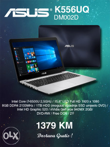 LAPTOP ASUS K556UQ-DM002D i7-6500U Full HD