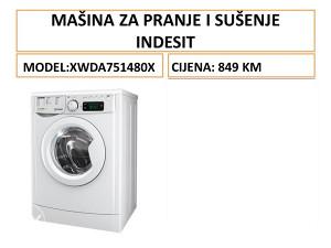 INDESIT mašina za pranje i sušenje veša XWDA751480XWWWG