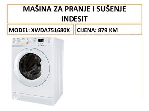 INDESIT mašina za pranje i sušenje veša XWDA 751680X W