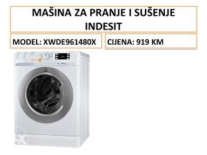 INDESIT mašina za pranje i sušenje veša XWDE961480XWKKC