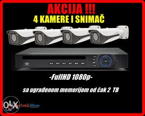 AKCIJA: 4 kamere i snimač SONY FullHD (1080p)