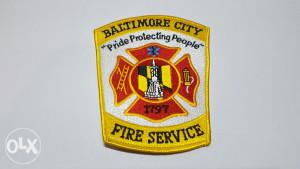 """Vatrogasna oznaka """"Baltimore city Fire service"""" Patch"""