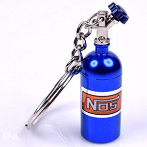 Privjesak za kljuceve NITRO boca NOS Plavi